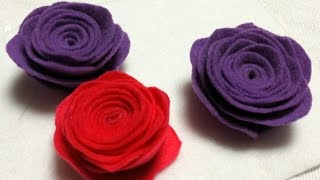 How to make Rolled Roses from felt