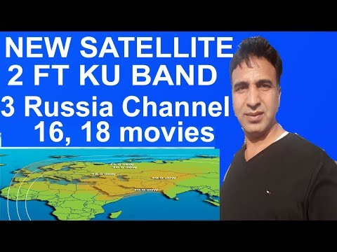 How To New Satellite KuBand 2Ft Dish Signal All Asia Coverage 3 Russia  Movies Channel