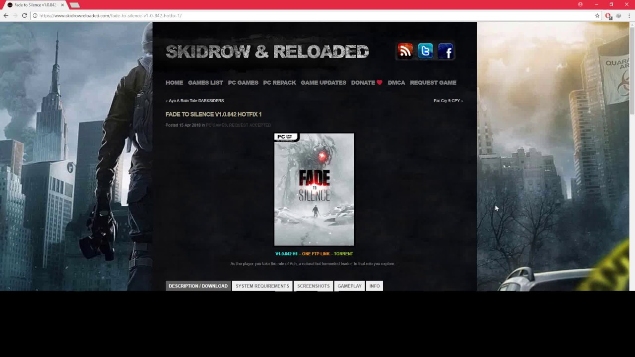 Fade To Silence V1 0 842 Hotfix 1 (How To Download) Bit Download 2018