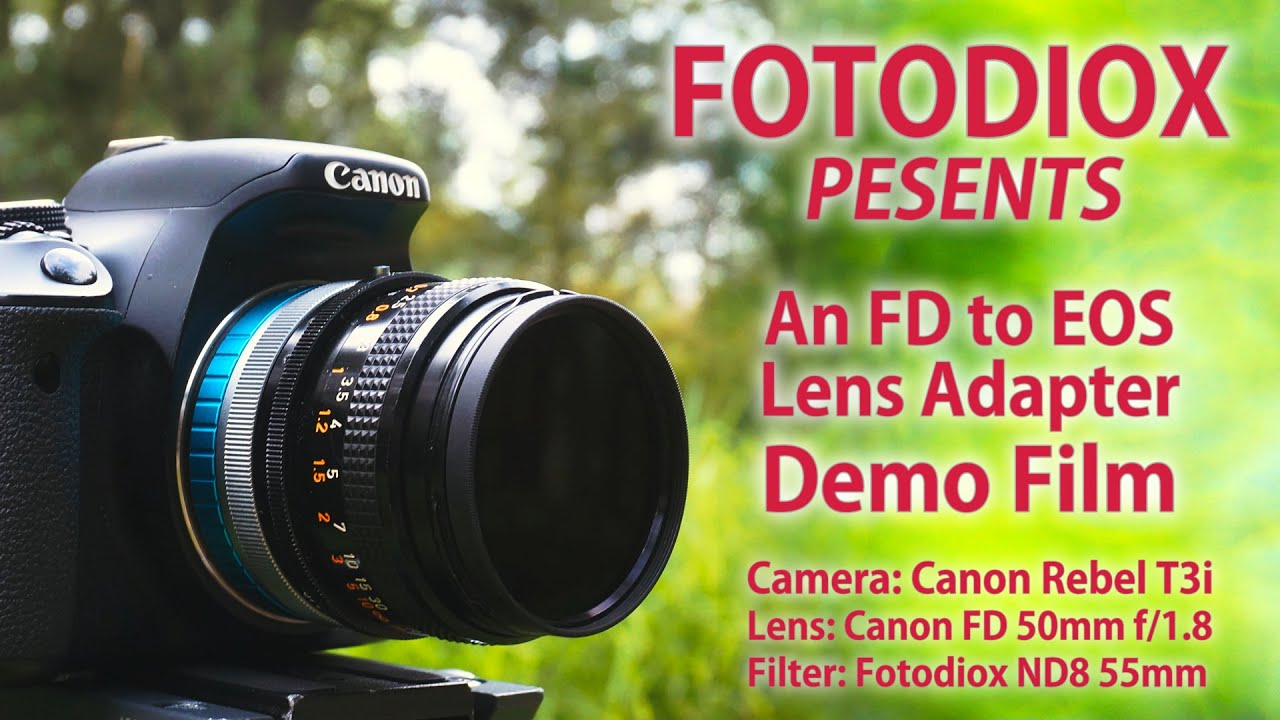 Canon FD to EOS Lens Adapter Demo Video - Fast, Cheap Prime Lenses