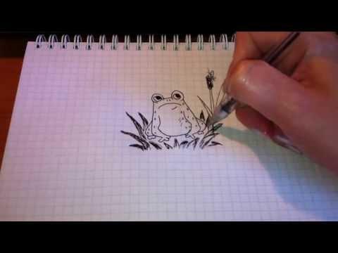 Простые рисунки #36. Лягушка