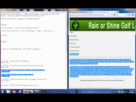 DIV Tags To Help Position Your HTML Web Page Part 1