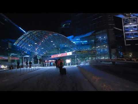 Самара | вход на ЖД вокзал ночью