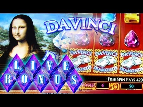 Da Vinci Diamonds - Live Bonus + Play - 5c IGT Video Slots
