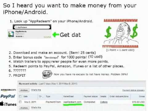 MAKE MONEY FROM YOUR IPOD / IPHONE from YouTube · Duration:  1 minutes 15 seconds