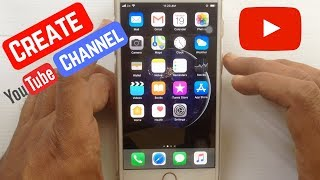 How to Create YouTube Channel on iPhone