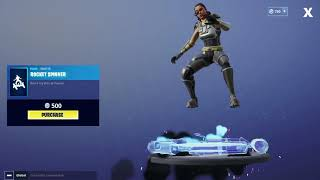 Fortnite Glitched Rocket Spinner Emote