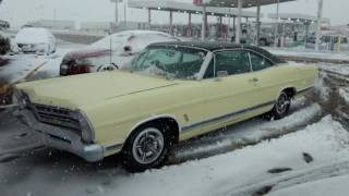 Snow storm in 1967 Ford XL 7-Litre