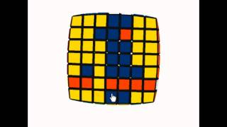How to Make Smiley Face 7X7 Rubik's Cube