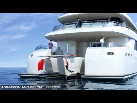 3D Animation, Visual Effects for Yachts, Boats, Architect...