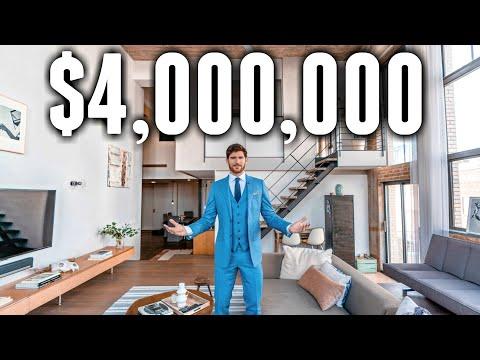 Inside A $4 MILLION Custom NYC LOFT Apartment