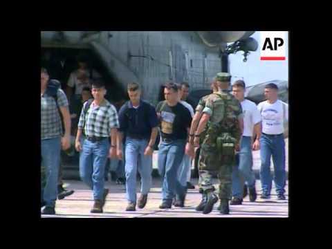 CONGO: BRAZZAVILLE: US MARINES STAGE MOCK EVACUATION