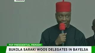 Bukola Saraki woos PDP delegates in Bayelsa