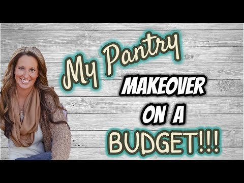 PANTRY MAKEOVER ON A BUDGET | ORGANIZATION IDEAS