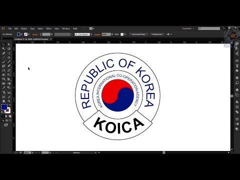 """How to create """"KOICA"""" logo in Adobe Illustrator 