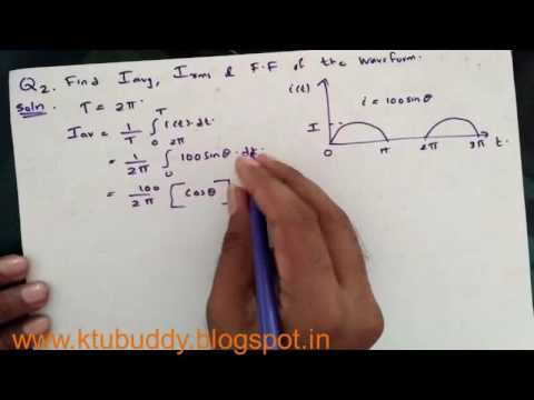 AC Waveform  - RMS and AVG Value KTU Important Problem 2