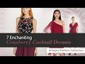 7 Enchanting Cranberry Cocktail Dresses Amazon Fashion Collection