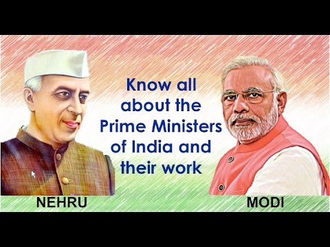 (Hindi) NEHRU TO MODI - Prime Ministers of India and their Important Work for the Country