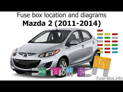 Fuse box location and diagrams: Mazda 2 (2011-2014) - YouTubeYouTube