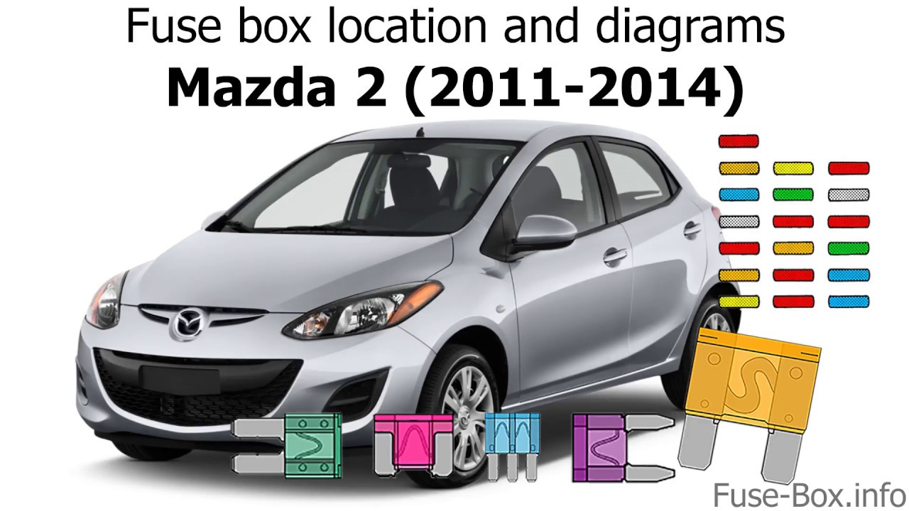 fuse box location and diagrams: mazda 2 (2011-2014)