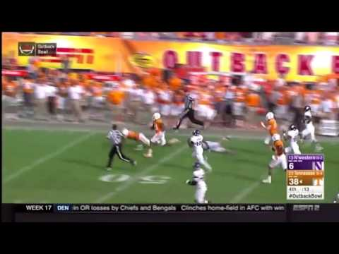 Outback Bowl Highlights: Evan Berry 100-Yard Interception Return For Touchdown