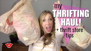 Thrifting Haul Tips | Jordan from Millennial Moms