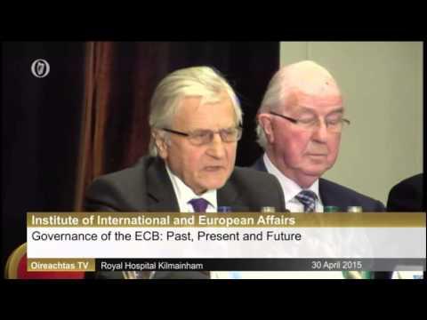 Joe Higgins TD questions former ECB president Jean Claude Trichet