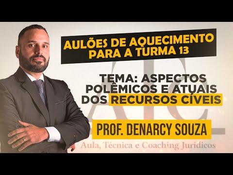 Aulão Especial - Aspectos Polêmicos e Atuais dos Recursos Cíveis - Prof. Denarcy Souza - 05-02-2021