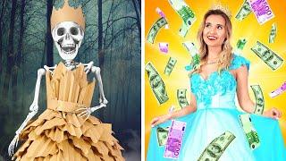 RICH VS BROKE || Rich Unpopular Girl vs Broke Popular Princess by 123 GO! SCHOOL