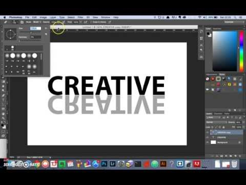 How To Create A Text Reflection Effect In Photoshop
