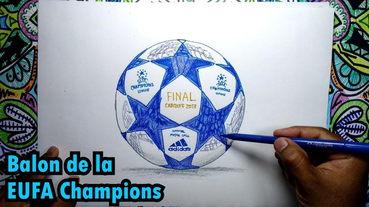 Cómo Dibujar Un Balón De Fútbol Fácil: Cómo Dibujar El Balón De Fútbol De La UEFA Champions