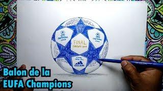 Cómo dibujar el balón de fútbol de la UEFA Champions League
