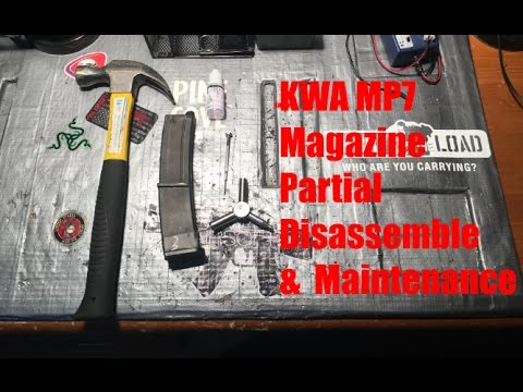 How To Partially Disassemble KWA MP7 Magazine/Maintenance
