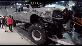 Dodge Ram Truck with MRAP axles :SEMA show Las Vegas