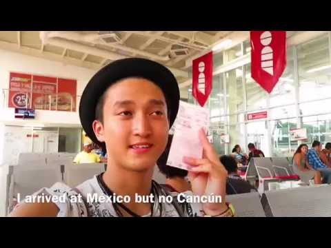 Dancer × Backpacker Shimon owaki , World travel 15 in Cancún / México  (HD)