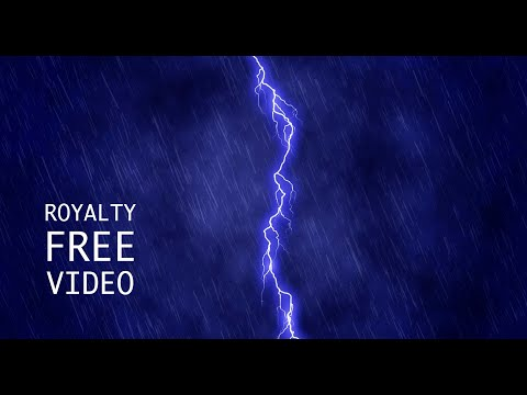 Thunderstorm with Lightning - Royalty Free Video