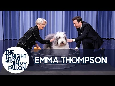 """Emma Thompson and Jimmy Wash a Sheepdog and """"It's F-ing Glorious"""""""