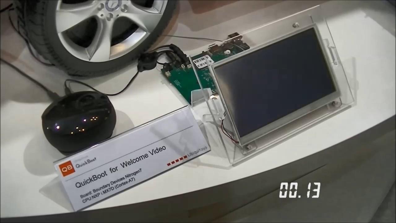 NXP i MX7 WelcomeVideo QuickBoot Demo