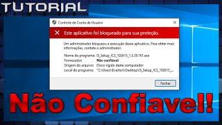 Executar programas de fornecedor não confiável [Windows]