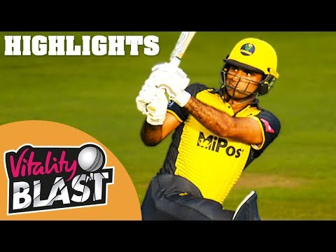 Glamorgan v Gloucestershire | High Drama As Fakhar & Salter Star | Vitality Blast 2019 - Highlights