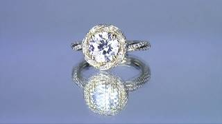 Round Halo Engagement Ring | Watch as I Make Carlynne's Engagement Ring