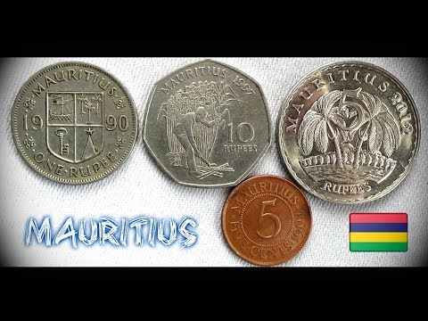 Coin collection   Mauritius   4 Coins ( Cents / Rupees ) from 1990