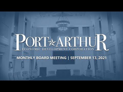 Port Arthur EDC   September 13, 2021 Meeting
