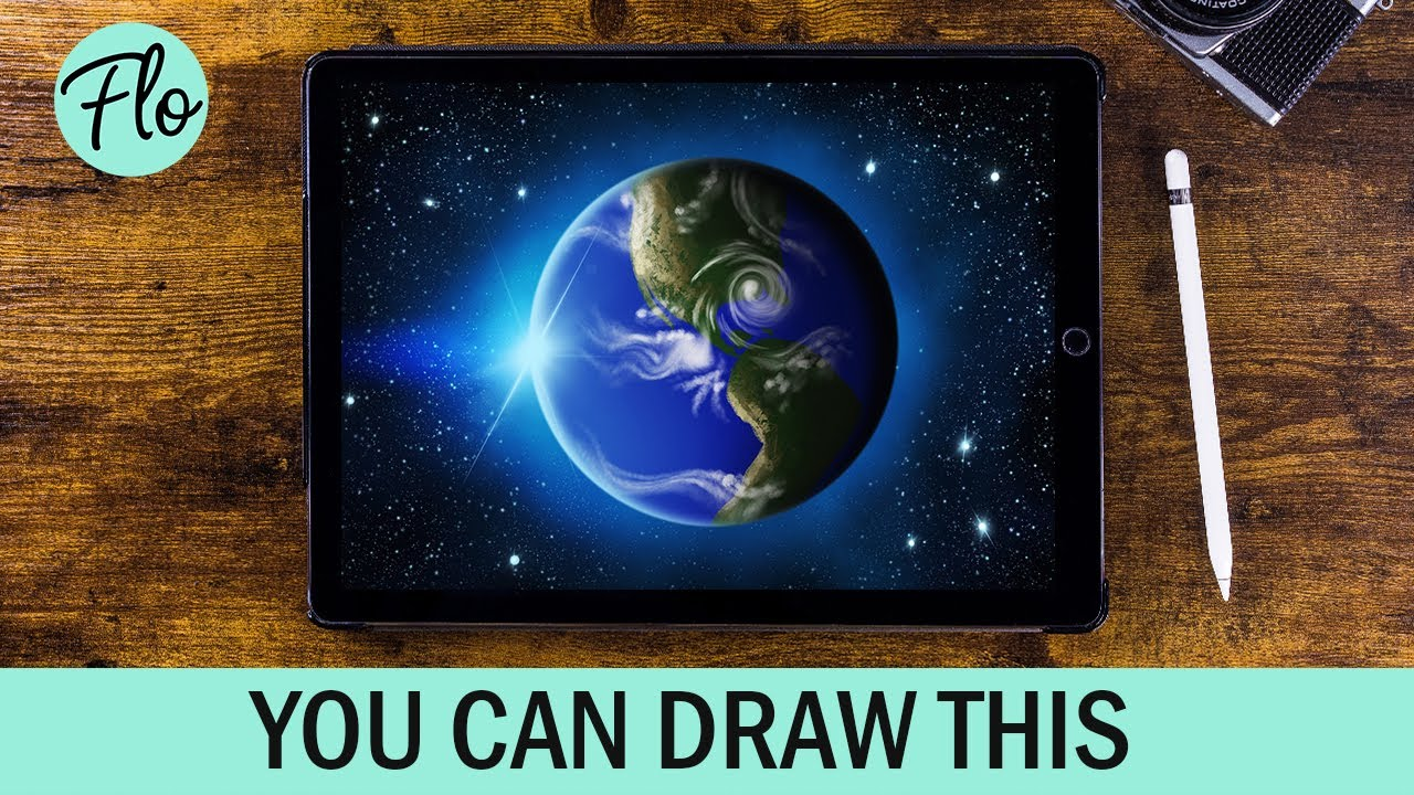 You Can Draw This PLANET EARTH in PROCREATE