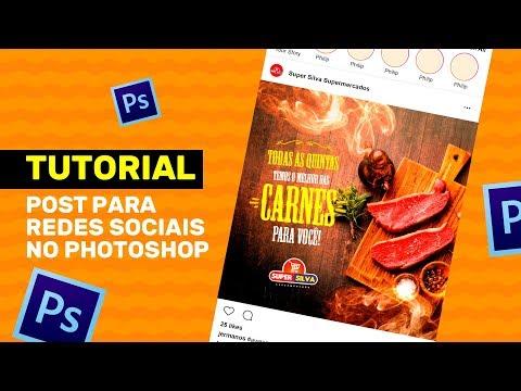 POST PARA REDES SOCIAIS NO PHOTOSHOP - #TUTORIAL thumbnail