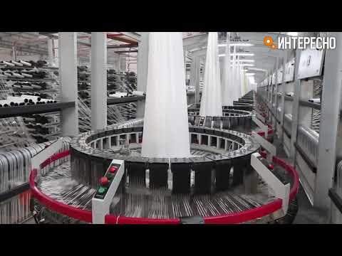 Как выглядит текстильное производство в Китае! Текстильная фабрика в Китае.