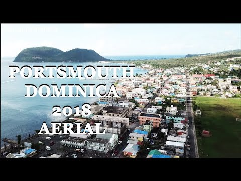 AERIAL of PORTSMOUTH DOMINICA IN 2018