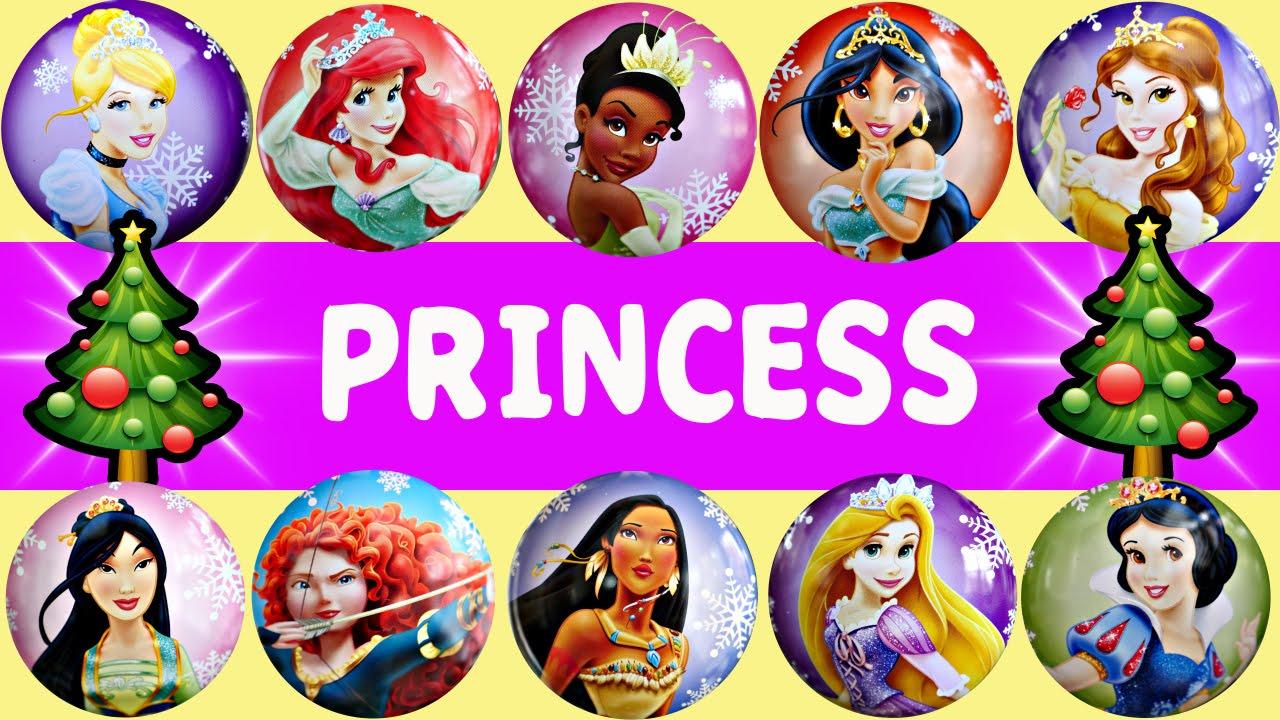 25 Disney Princesses Countdown To Christmas - Ariel Mulan Merida ...