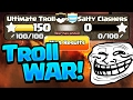 Clash of Clans Funny Moments - TROLLING a Clan War!