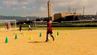 コミュニケーションを高める指示するウォーミングアップ【サッカースキルアップ サマースクール】